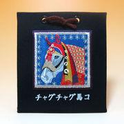 「チャグチャグ馬コ刺繍オーナメント(白馬)」の商品イメージ