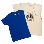 「すいかTシャツ(ブルー・クリーム色)」の商品イメージ