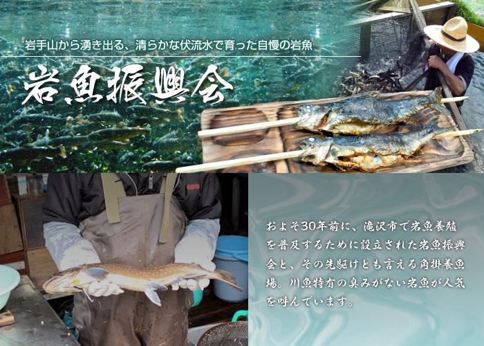 岩魚振興会 岩手山から湧き出る、清らかな伏流水で育った自慢の岩魚